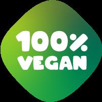 Bollino 100% vegan